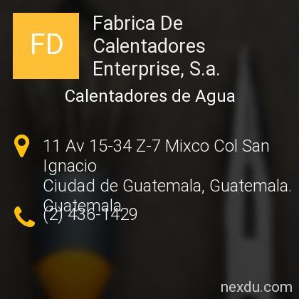 Fabrica De Calentadores Enterprise, S.a.