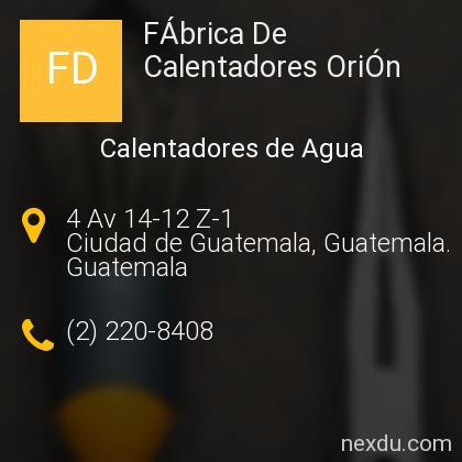 FÁbrica De Calentadores OriÓn