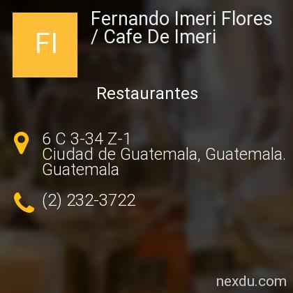 Fernando Imeri Flores / Cafe De Imeri