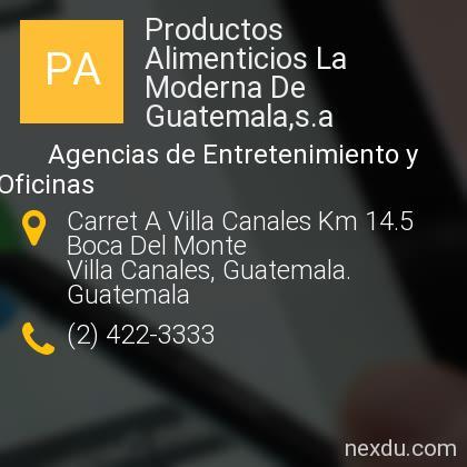 Productos Alimenticios La Moderna De Guatemala,s.a