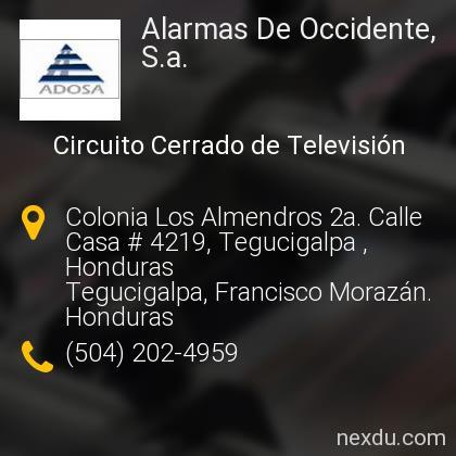 Alarmas De Occidente, S.a.