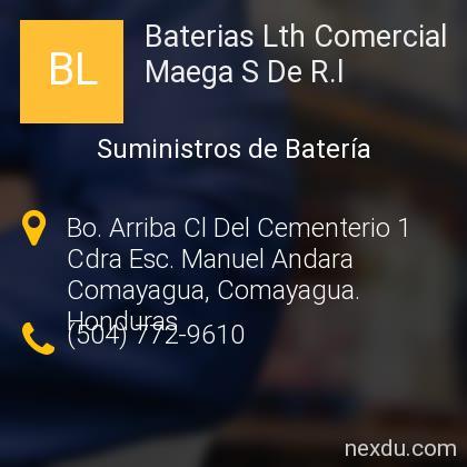 Baterias Lth Comercial Maega S De R.l