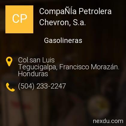 CompaÑÍa Petrolera Chevron, S.a.