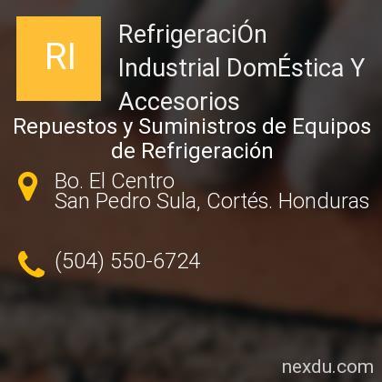 RefrigeraciÓn Industrial DomÉstica Y Accesorios