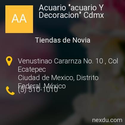 Acuario acuario Y Decoracion Cdmx