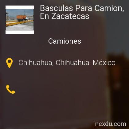 Basculas Para Camion, En Zacatecas