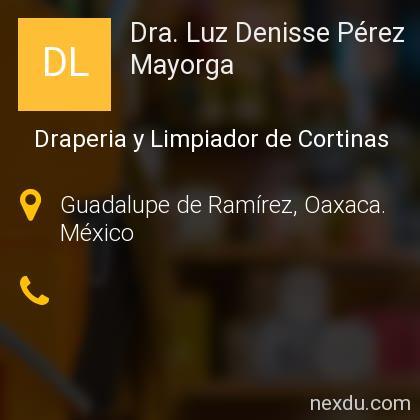 Dra. Luz Denisse Pérez Mayorga