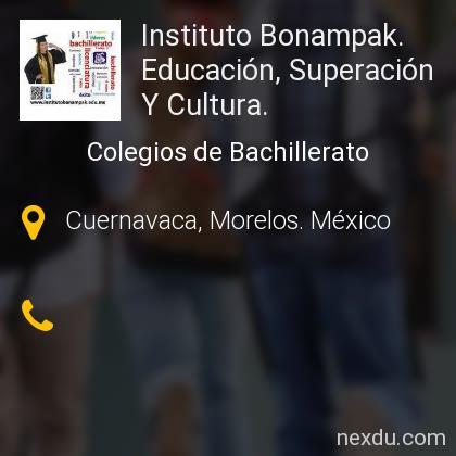 Instituto Bonampak. Educación, Superación Y Cultura.