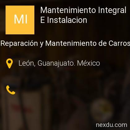 Mantenimiento Integral E Instalacion