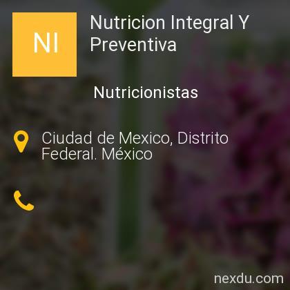 Nutricion Integral Y Preventiva