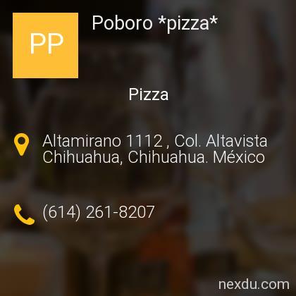 Poboro *pizza*
