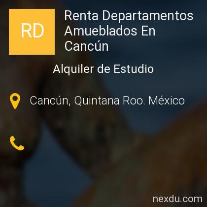 Renta Departamentos Amueblados En Cancún
