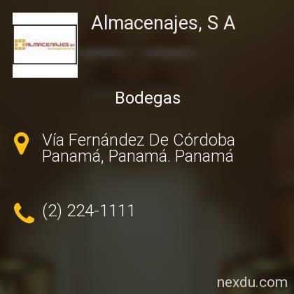 Almacenajes, S A
