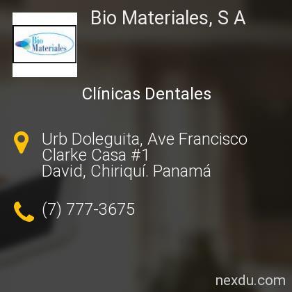 Bio Materiales, S A