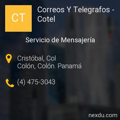 Correos Y Telegrafos - Cotel