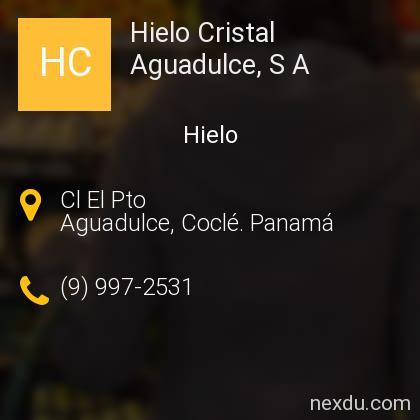 Hielo Cristal Aguadulce, S A