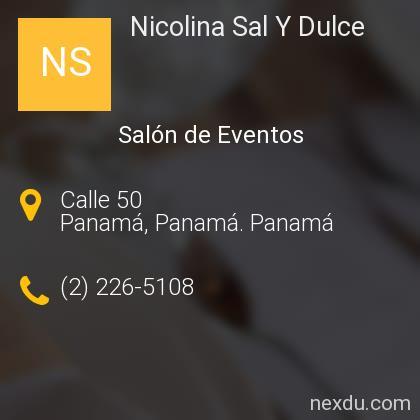 Nicolina Sal Y Dulce