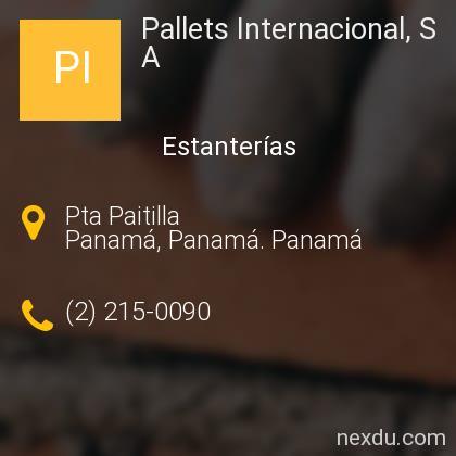 Pallets Internacional, S A