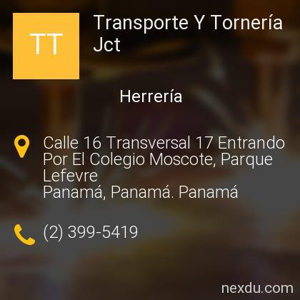 Transporte Y Tornería Jct