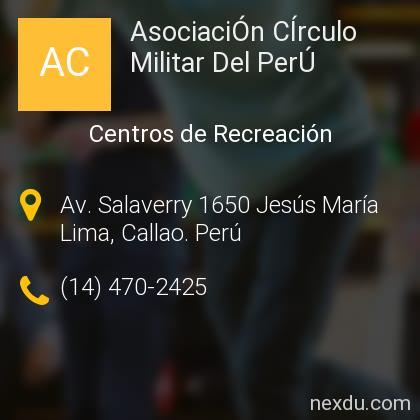 AsociaciÓn CÍrculo Militar Del PerÚ