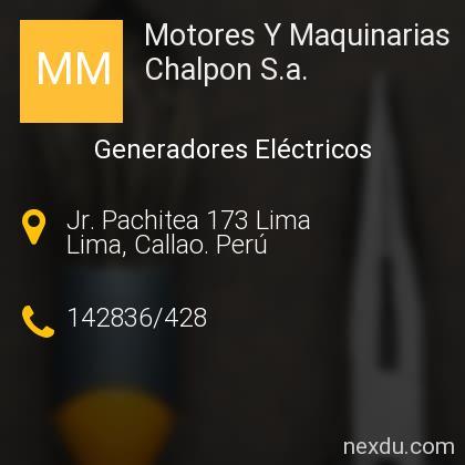 Motores Y Maquinarias Chalpon S.a.