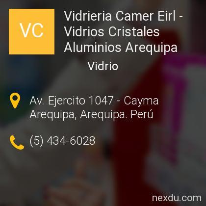 Vidrieria Camer Eirl - Vidrios Cristales Aluminios Arequipa