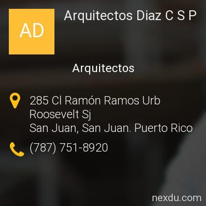 Arquitectos Diaz C S P