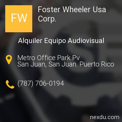 Foster Wheeler Usa Corp.