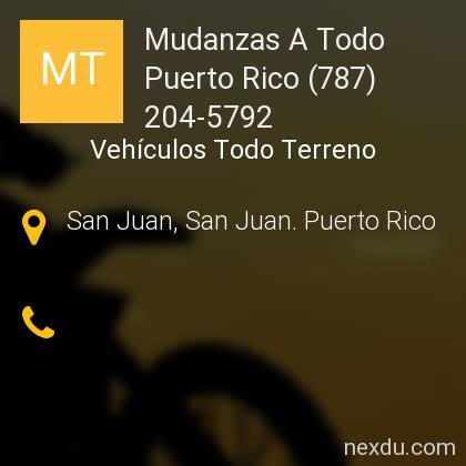 Mudanzas A Todo Puerto Rico (787) 204-5792