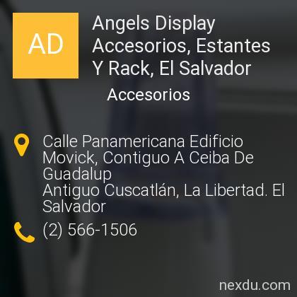 Angels Display Accesorios, Estantes Y Rack, El Salvador