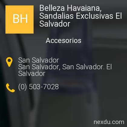 Belleza Havaiana, Sandalias Exclusivas El Salvador