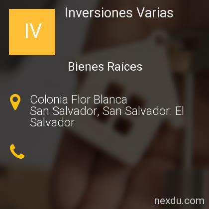 Inversiones Varias