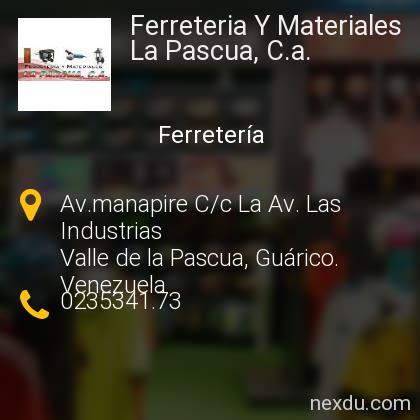 Ferreteria Y Materiales La Pascua, C.a.