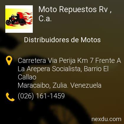 Moto Repuestos Rv , C.a.