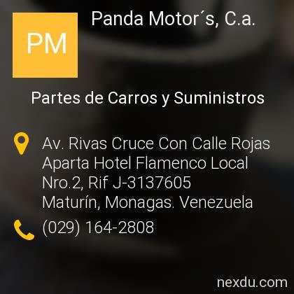 Panda Motor´s, C.a.