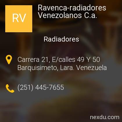 Ravenca-radiadores Venezolanos C.a.