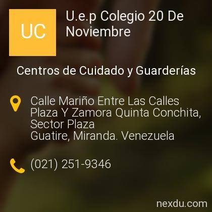 U.e.p Colegio 20 De Noviembre